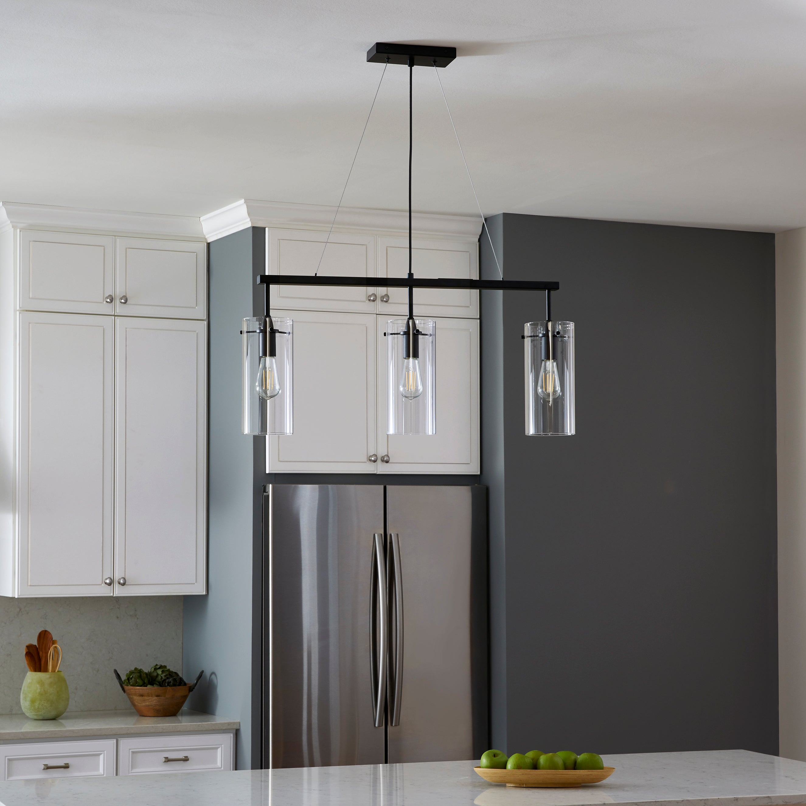 Effimero Large 3 Light Kitchen Island Hanging Light Linea Lighting Modern And Affordable Residential Lighting