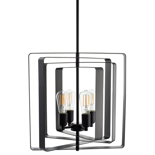 Sabaria 4 Light Industrial Pendant Light with LED Bulbs