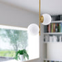 Caserti Mid Century Modern 2 Light Pendant Light