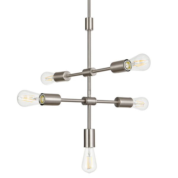 Marabella Mid Century Modern 5 Light Sputnik Pendant Light