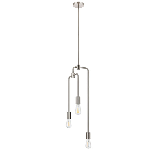 Marabella Modern Industrial 3 Light Pipe Pendant Light
