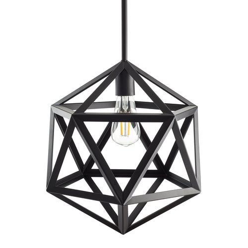 Vizerta Industrial Pendant Light with LED Bulb