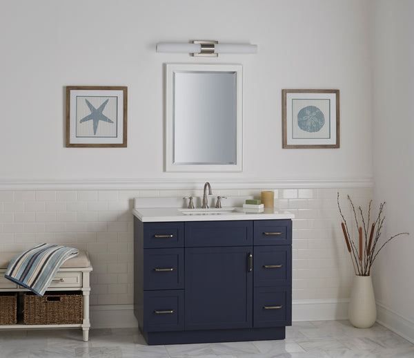 Perpetua 30 inch LED Bathroom Vanity Light, Integrated LED Light Strip with Caps