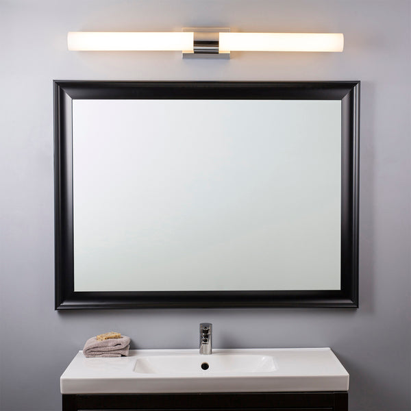 Perpetua 42 inch LED Bathroom Vanity Light, Integrated LED Light Strip with Caps