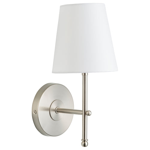 Tamb Polished Chrome Wall Sconce w/ Fabric Shade