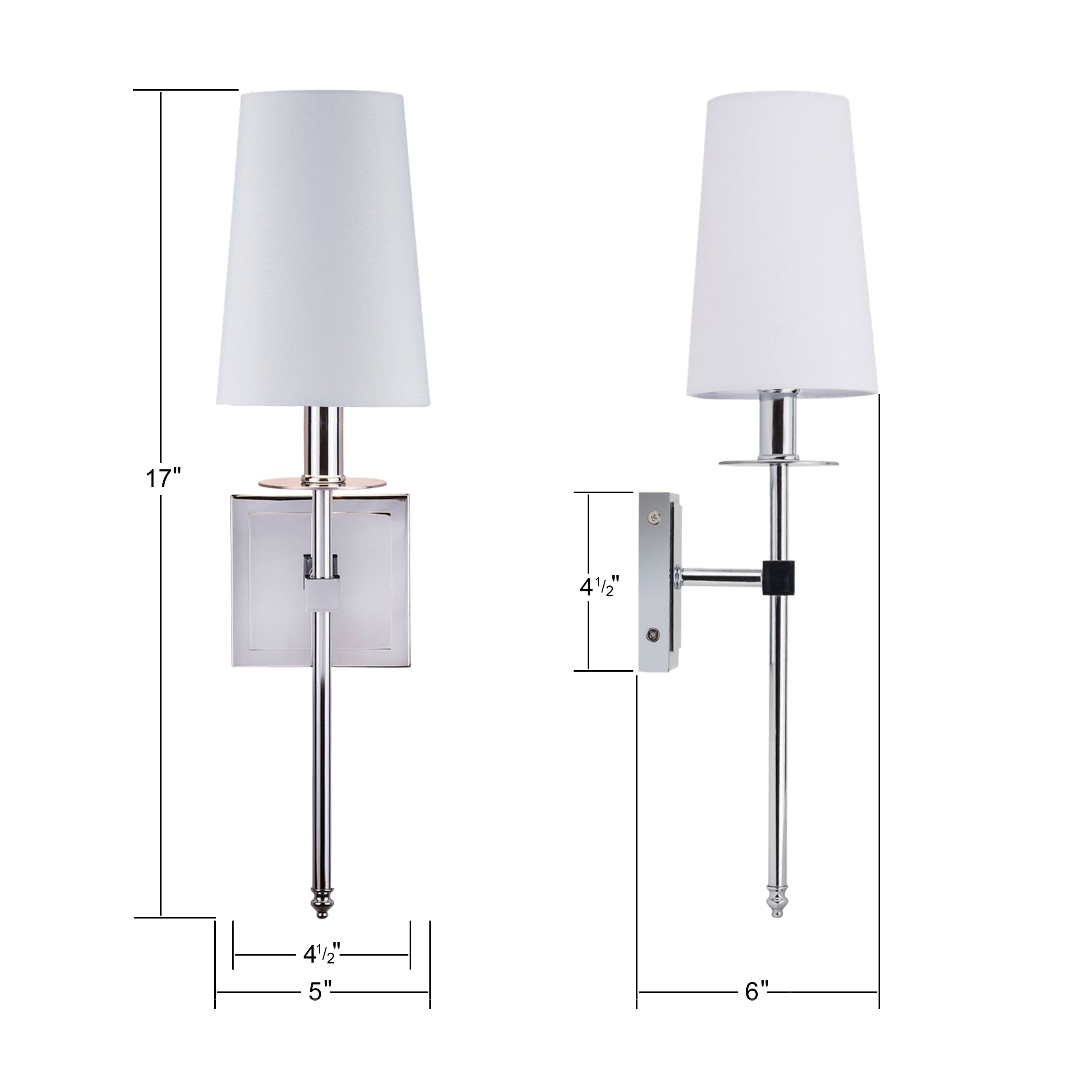 Chrome Torcia Wall Sconce 1-Light Fixture with Fabric Shade Linea di Liara LL-SC425-PC