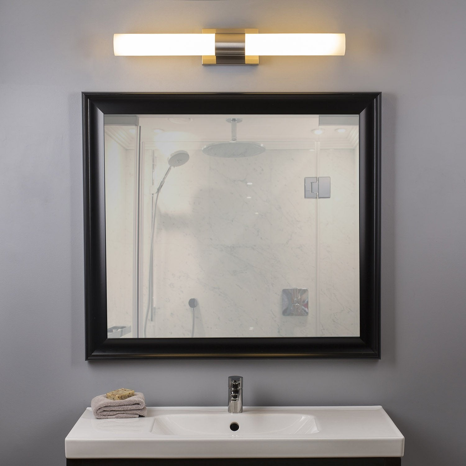 Perpetua 30-inch LED Vanity Fixture 39.5W Dimmable Warm Soft Light ...