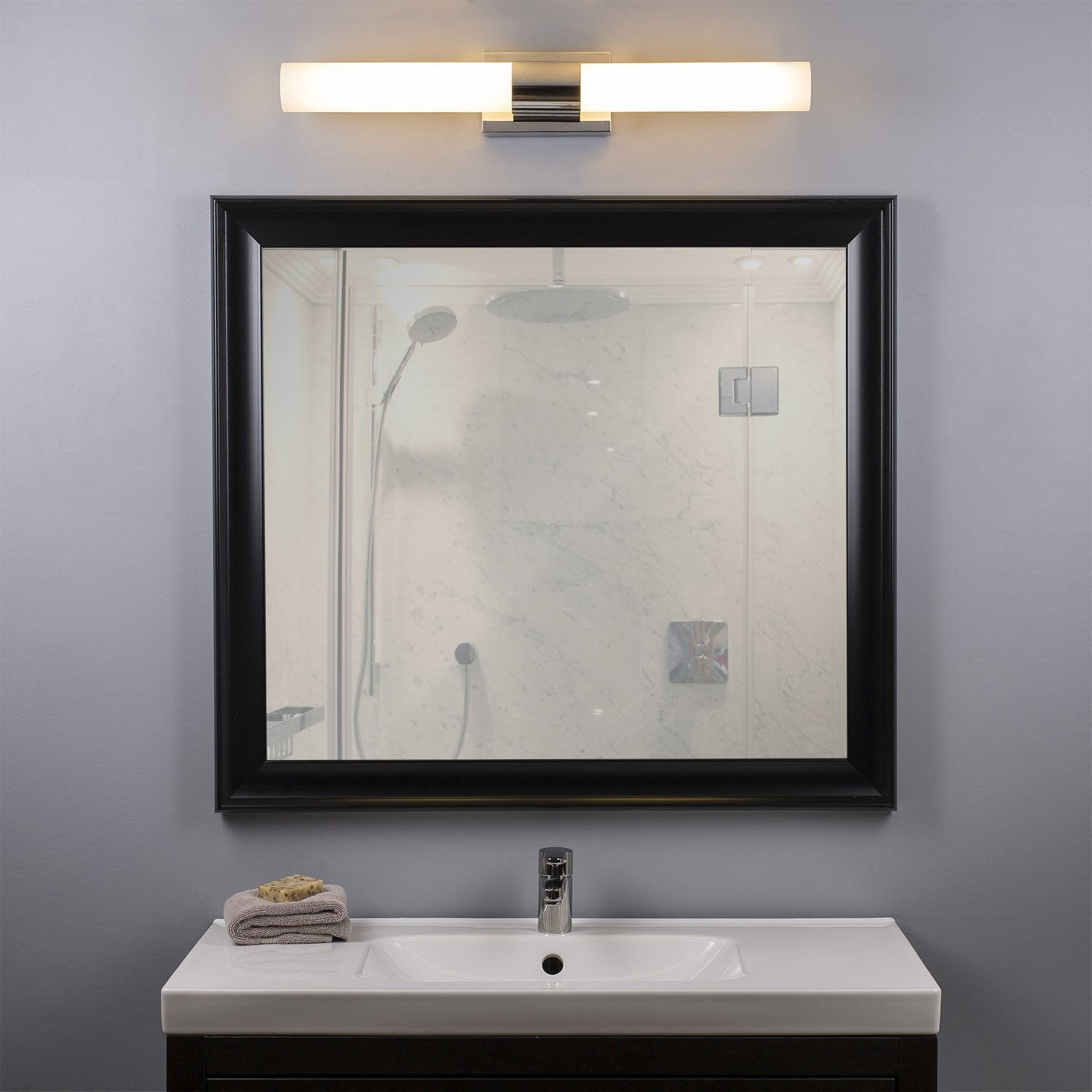 stylist mirror and lighting decor concept light with popular home vanity bathroom ideas luxury of about lights