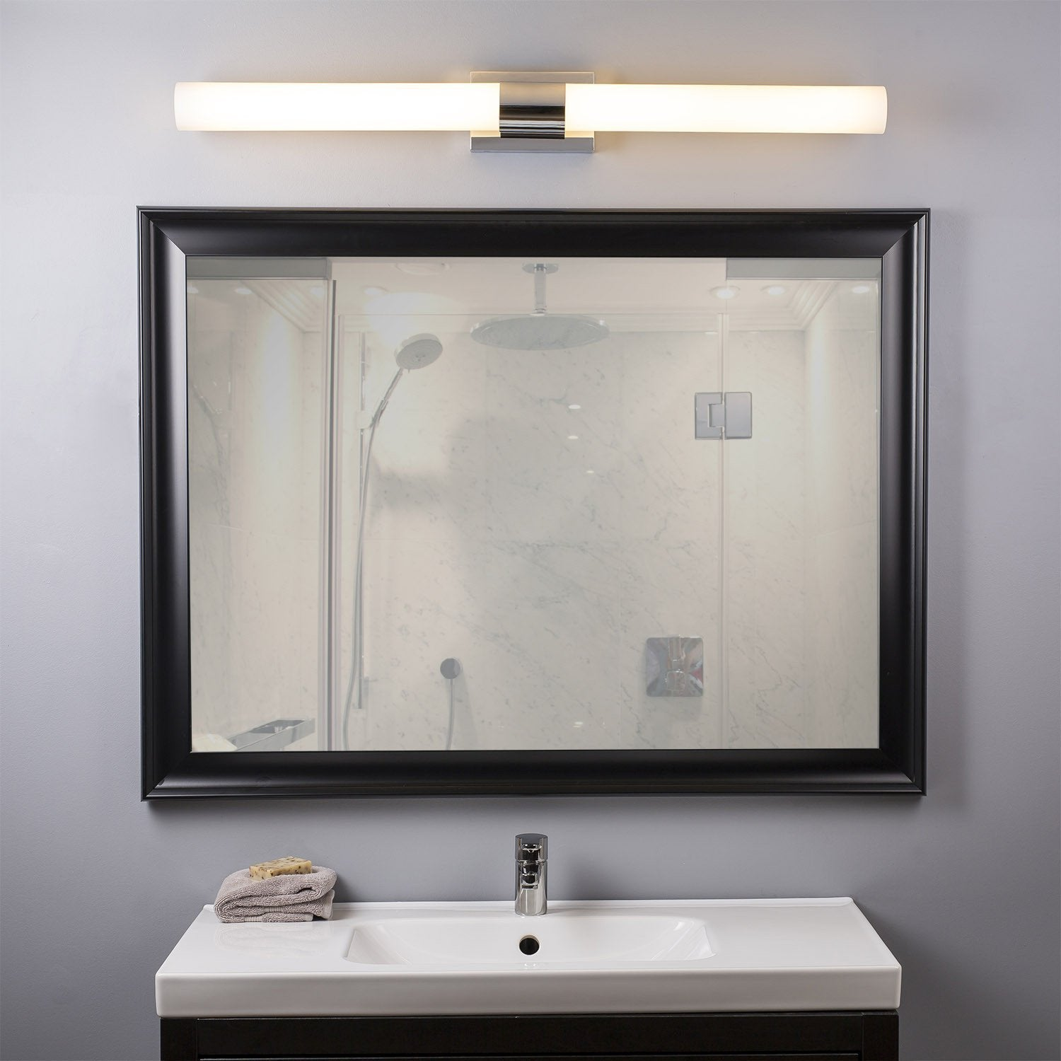 Perpetua 42 inch led vanity fixture 535w dimmable warm soft light perpetua 42 inch led vanity fixture 535w dimmable warm soft light frosted glass 4600 aloadofball Choice Image