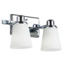 Terracina 2 Light Bathroom Vanity Light w/ Opal Glass