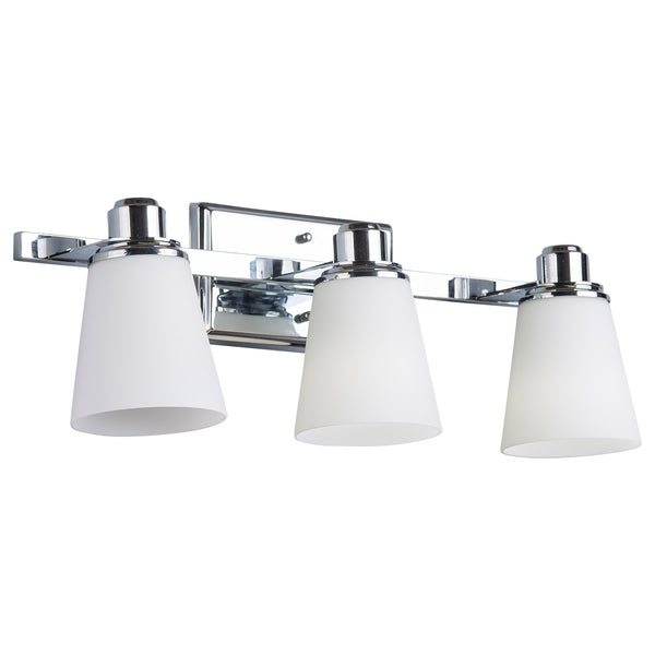 Terracina 3 Light Bathroom Vanity Lamp w/Opal Glass