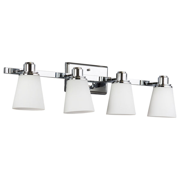 Terracina 4 Light Bathroom Vanity Light w/Opal Glass