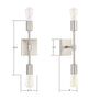 Berbella 2 Light Bathroom Wall Sconce