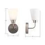 Annata Wall Sconce w/White Shade -