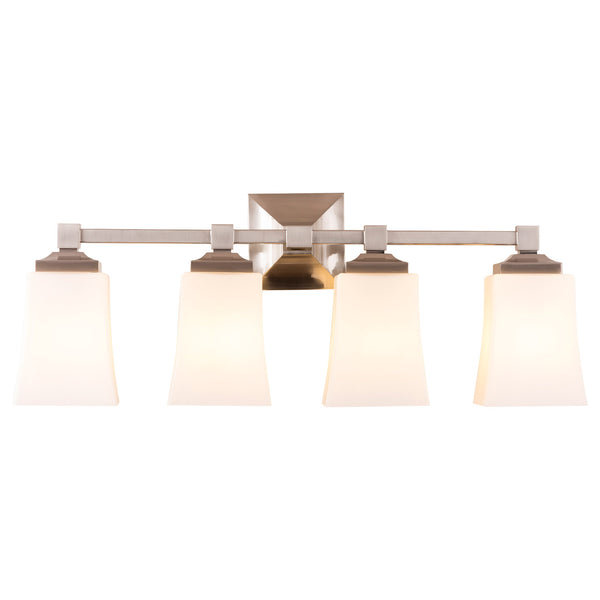 Brighton 4 Light Bathroom Vanity Light w/Frosted Glass