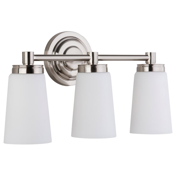 Sheffield 3 Light Bathroom Vanity Light w/Frosted Glass