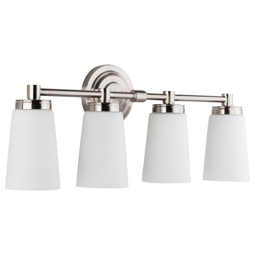 Sheffield 4 Light Bathroom Vanity Light w/Frosted Glass