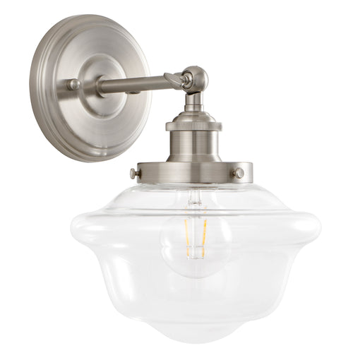 Lavagna Industrial 1 Light Bathroom Vanity Light w/Clear Glass, LED bulb included
