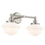 Lavagna Industrial 2 Light LED Bathroom Vanity Light w/Milk Glass