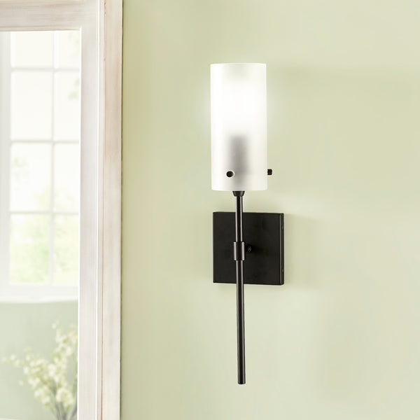 Effimero Wall Light w/ Frosted Cylinder Shade