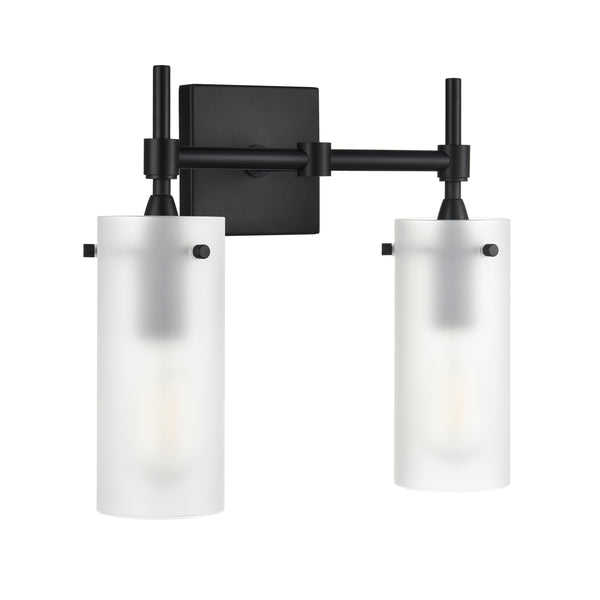Effimero 2 Light Wall Sconce, Frosted Glass