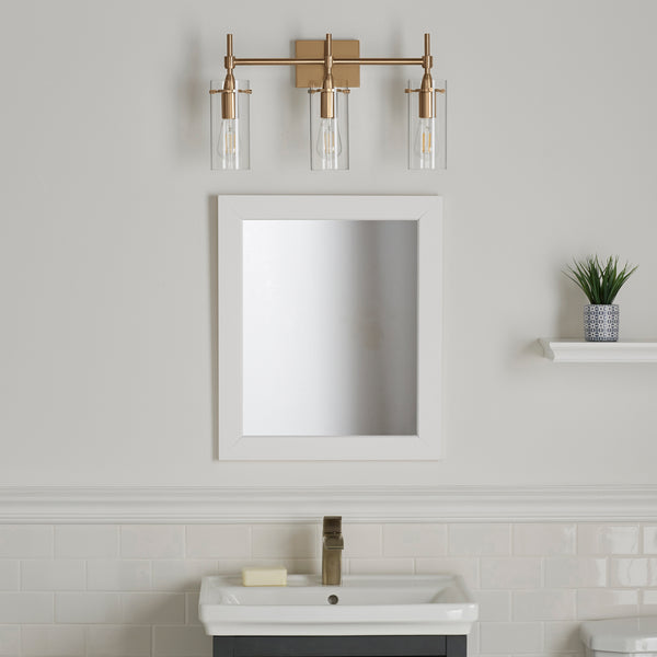 Effimero 3 Light Bathroom Vanity Light