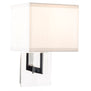 Sofia 1 Light Wall Sconce w/ White Fabric Shade