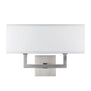 Sofia 2 Light Wall Sconce w/ White Fabric Shade