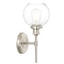 Primo Industrial Wall Sconce w/Glass Shade