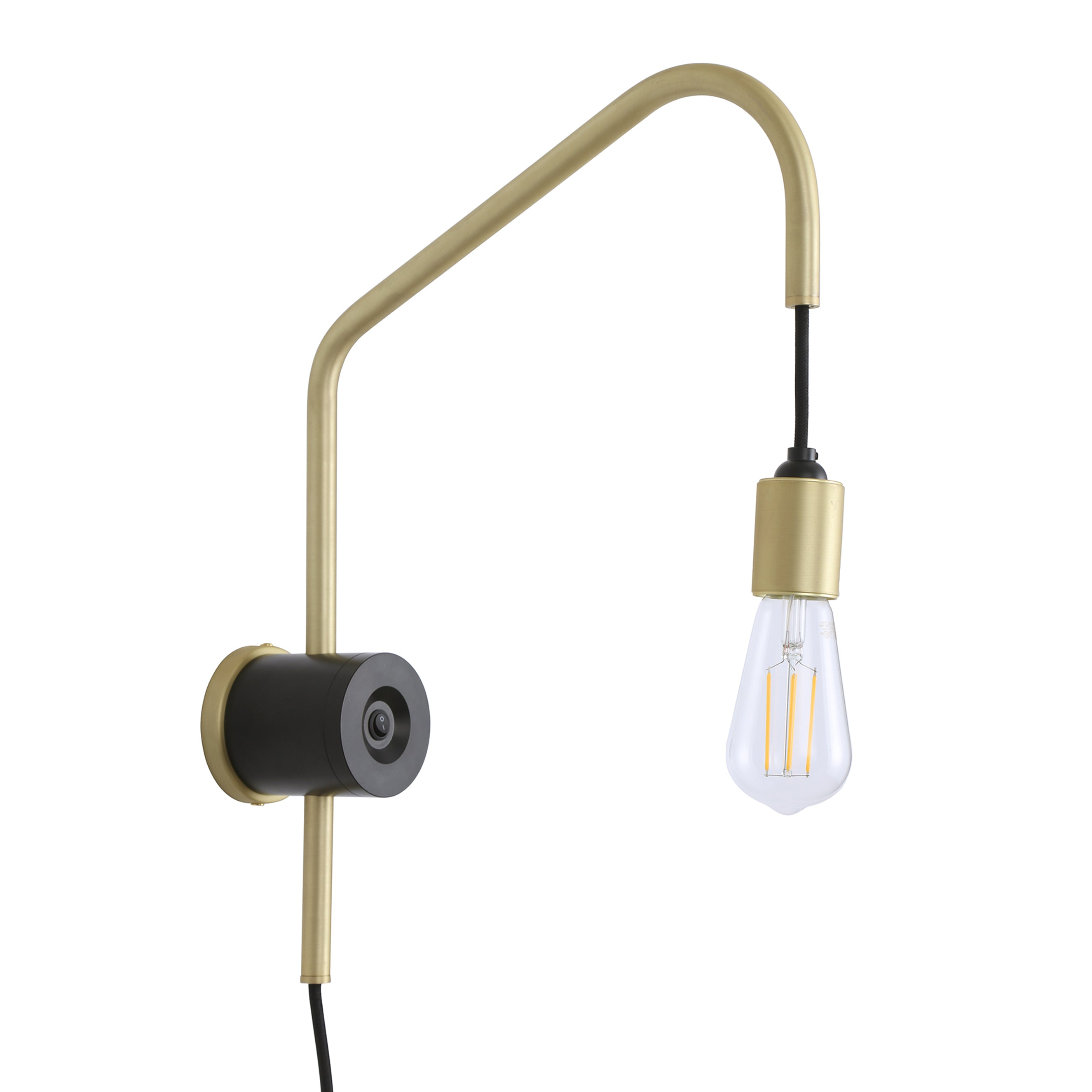 Arioso Exposed Bulb Plug-in Wall Lamp, LED bulb included
