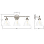 Tenesa Three Light Wall Sconce