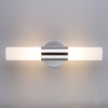 Adagio 20 inch Polished Chrome Two-Light Wall Sconce Lamp with Frosted Glass Shades