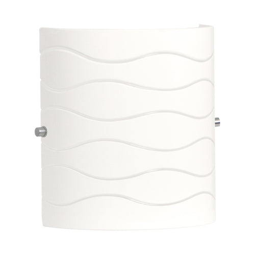 Avellina 1 Light Wall Sconce w/ Carved Opal Glass -