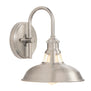 Brushed nickel wall sconce perfect for the bathroom