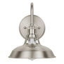 Linea Lighting brushed nickel wall sconce perfect for bedrooms, bathrooms, living or dining rooms