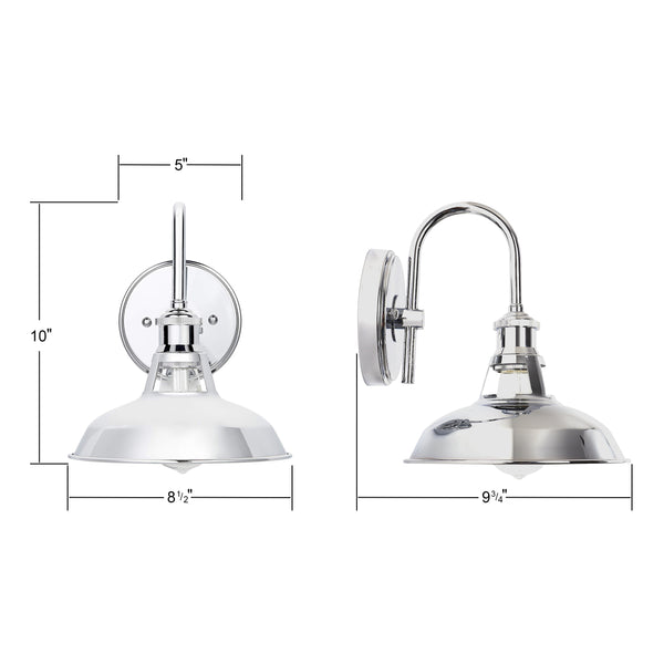 8.5 by 10 inch Olivera Bathroom Vanity Light in chrome
