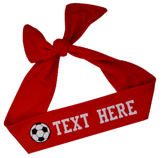 Design Your Own Soccer Tie Back Headband with VINYL Text - Quantity Discounts