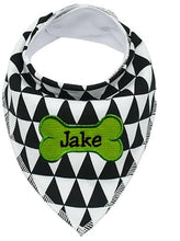 "Load image into Gallery viewer, Personalized Embroidered Pet Dog Collar Scarf Bandana for Dogs - Fits up to 16"" Necks"