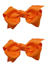 Load image into Gallery viewer, Set of 2 - 3 Inch Grosgrain Ribbon Boutique Children's Hair Bows