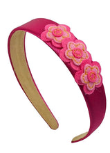 Load image into Gallery viewer, Girls Kit Felt Flower Cluster Satin Arch Headband - 4 Colors!