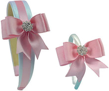 Load image into Gallery viewer, 18 Inch Dolly and Me Matching Elegant Bow Headband Gift Set