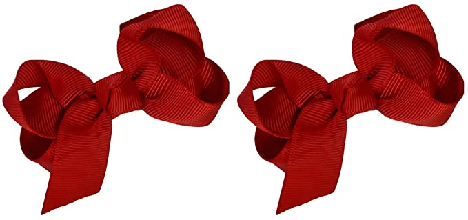 Set of 2 - 2.75Inch Grosgrain Ribbon Children's Hair Bows