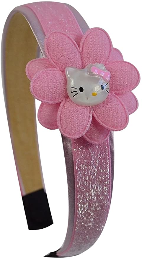 Pink Kitty Toddler Girls Glitter Arch Flower Headband