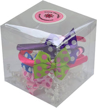 Load image into Gallery viewer, Set of 4 18 Inch Doll Polka Dot Bow Headbands Gift Box Set!