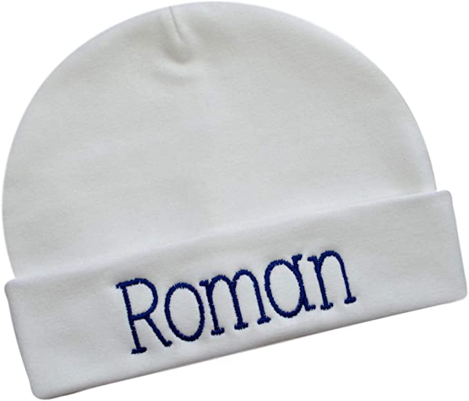 Personalized Cotton Baby Hat for Boys with Custom Embroidered Name