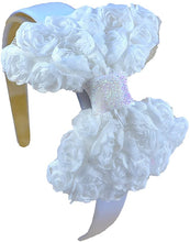 Load image into Gallery viewer, Valentine Shabby Chiffon Rosette Bow Arch Headband - 4 Colors!