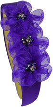 Load image into Gallery viewer, Lulu Organza Rhinesone Flower Arch Headband - 10 Colors!