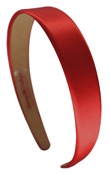 1 Inch Wide Satin Arch Headband - 11 Colors!