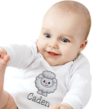 Load image into Gallery viewer, Personalized Embroidered Soft and Fuzzy Lamb Bodysuit with Your Custom Name