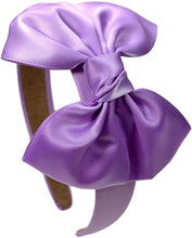 Load image into Gallery viewer, Girls Satin Bow Arch Headband - 7 Colors!